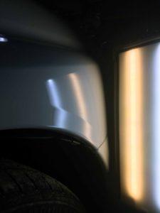 インプレッサWRX フロントフェンダーのヘコミafter デントリペア・Tact 奈良県香芝市一般ユーザー様