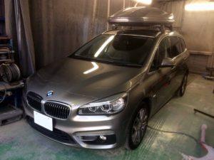 BMW218dのヘコミ デントリペア・Tact 奈良県御所市自動車販売業者様