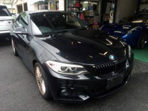 BMW2シリーズクーペのヘコミ デントリペア・Tact 奈良県奈良市輸入車販売業者様