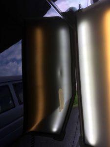 エスティマフロントフェンダーのヘコミbefore デントリペア・Tact 奈良県橿原市一般ユーザー様