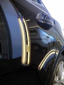 レクサスIS300Hのデントリペアbefore デントリペア・Tact 奈良県桜井市中古車販売業者様