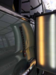 FIAT500のデントリペアbefore デントリペア・Tact 奈良県奈良市輸入中古車販売業者様
