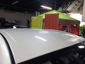 トヨタプリウスのデントリペア after3 デントリペア・Tact 奈良県御所市板金塗装自動車販売業者様