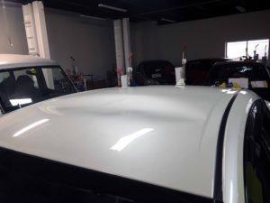 トヨタプリウスのデントリペア before デントリペア・Tact 奈良県御所市板金塗装自動車販売業者様