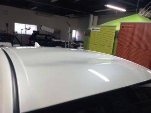 トヨタプリウスのデントリペア before3 デントリペア・Tact 奈良県御所市板金塗装自動車販売業者様