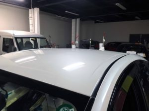 トヨタプリウスのデントリペア after デントリペア・Tact 奈良県御所市板金塗装自動車販売業者様