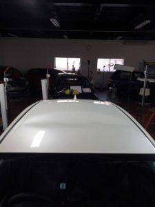 トヨタプリウスのデントリペア before2 デントリペア・Tact 奈良県御所市板金塗装自動車販売業者様