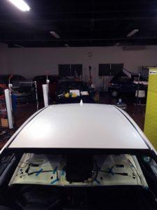 トヨタプリウスのデントリペア after2 デントリペア・Tact 奈良県御所市板金塗装自動車販売業者様