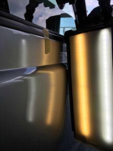 ダイハツハイゼットのデントリペアafter デントリペア・Tact 奈良県葛城市自動車販売業者様